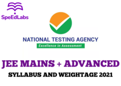 JEE Mains and JEE Advanced - Syllabus and Weightage 2021